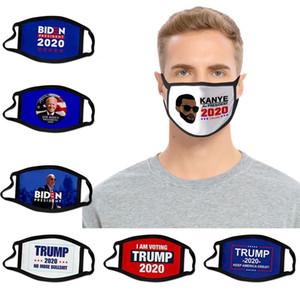 2020 Elección de Kanye West algodón Máscara impedir que las mascarillas América grande De nuevo partido de Cosplay Biden Trump cara del polvo anti lavable y transpirable boca cubierta