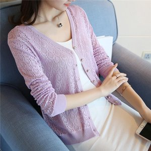 special price, thin knitted sweater, womens cardigan jacket, 2019 summer thin sunscreen, short air conditioning shirt.