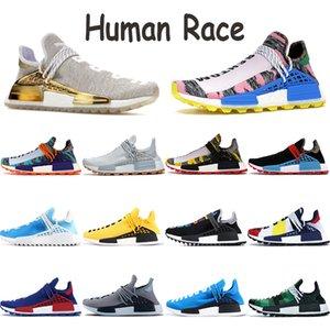 NMD Human Race Hommes Chaussures de course PW Chine Paquet Bonne paix HU Pharrell solaire mère orange pack Nerd rouge Souffle bleu Bien que les formateurs