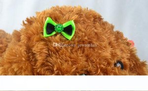 Assorted Pet Cat Dog Hair Bows with Rubber Bands Grooming Accessories Cute Pet Headwear for Small Dogs Christmas Gift