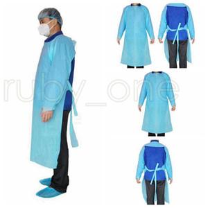 CPE Protective Clothing Impermeabili monouso Isolamento abiti Abbigliamento Tute antipolvere abbigliamento outdoor protezione monouso Raincoat RA3535