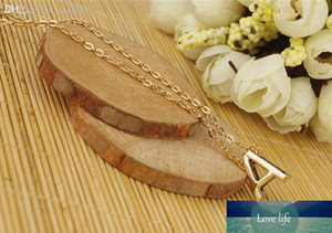 Wholesale-Chic Women Gift Gold plated Letter name Initial chain Pendant Fashion Necklace