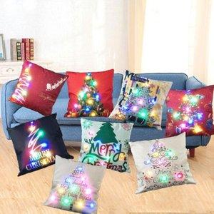 LED подушка крышка случай Luminous белье Подушка Охватывает Свет Подушки Рождества наволочки Главной Sofa Украшения автомобиль CCA12477 100шт