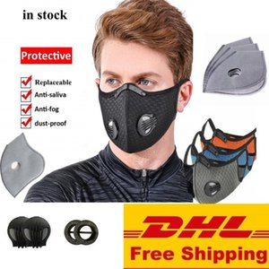 Activated Stock Breathable Carbon Dhl Mask Mountain Road Bike Bicycle Half Dustproof Cycling Running Sports with 1 Free Filter