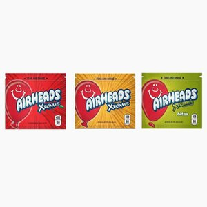 seçim için yiyecek ve içecek torbası özel ekşi çanta için 3 renk gıda torbası 408mg ambalaj fermuar Tıbbi Airhead polyester filmi boşaltın