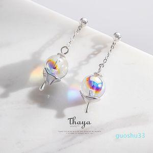Hot Sale Thaya Rainbow Bubble Earrings Water Droplets Stud Earrings 925 Silver for Women Original Design Fashion Gift