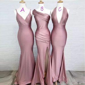 3 Styles Available Satin Like Silk Designer Bridesmaid Dresses Mermaid vestido madrinha de casamento longo Wedding Party Dresses