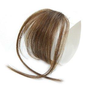 Clipser Cheveux Bangs postiche synthétique Faux Bangs cheveux Piece clip en extensions de cheveux Blunt Bangs Clip Noir