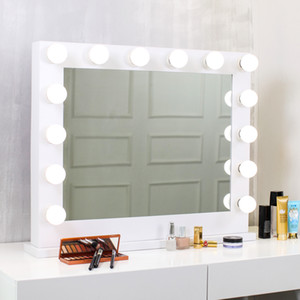 New Hollywood HD Vanity Mirror Light Home Wedding Mirror Desktop Bulbs Vanity Desktop Led Makeup Mirror With light