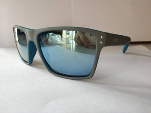 2020 maschile e femminile occhiali con chiodi esterna arancione interno nero spruzzare vernice elastica lente grigio piatto anti-neri Revo occhiali da sole rossi quadrati