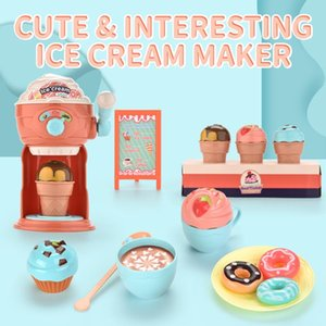 Funny Ice Cream Maker Pretend Play Toy Diy Kitchen Machine Educational Cartoon Kids Toys Cute Role Play Girls Gifts