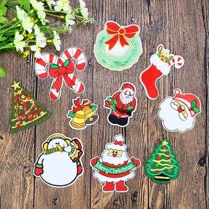 10 ADET / Nakış Sticker üzerinde Çanta Kot DIY diker için Transferi Aplike Patch üzerinde Giyim Demir için Noel Moda Patches set