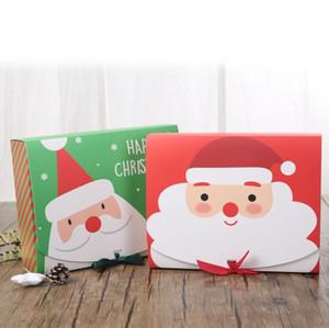 La víspera de Navidad grande de la caja de regalo de Santa Diseño de hadas Papercard que Kraft favor de partido Presente Actividad Red Box verde EEA2000