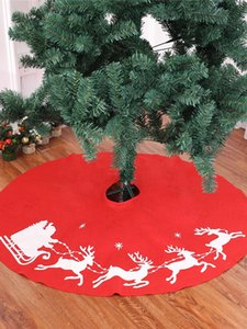"""39,4"""" / 100cm Christmas Tree Skirt Mat Holiday Party Decoration Nouvel An Imprimé Elk Tapis de Noël White Deer Tabliers Couverture JK2008PH"""