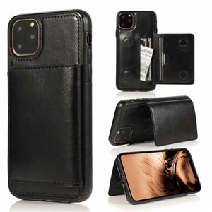 PU Leather Case For iPhone 12 11 Pro Max XS XR 8 Plus Retro Card Slot Phone Holder Back Cover Samsung S20 S10