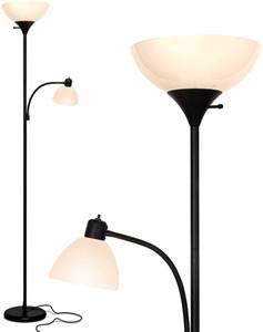 Office için Süper parlak LED Yerçubuk Okuma Lambader Dim Modern Daimi Pole Lambası, Salon Tall anne kızı Işıklar f