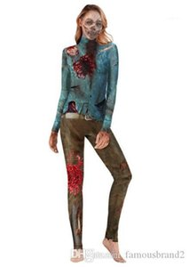 Apparel Womens Halloween Designer Zombia Theme Costume Jumpsuits Festival Style Autumn Female Clothing Fashion Style Casual