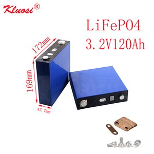 KLUOSI 4S 8S 12S 16S 20S 24S 12V 24V 36V 48V 60V 72V Battery Pack 3.2V120Ah LiFePO4 FOR EV Marine RV Golf US EU TAX FREE