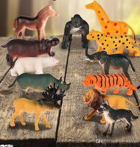 animal world jungle simulation model toy set for kids realistc image enrich children's cognitive and hands-on ability gift 04