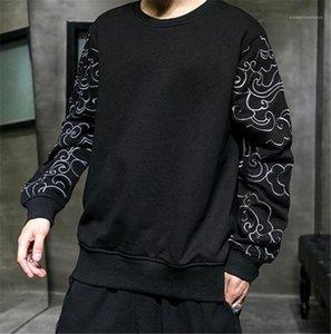هوديس عارضة ملابس الرجال النمط الصيني مصمم رجالي هوديس أزياء فضفاضة التطريز كم نصب منصة مصمم رجالي
