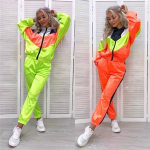 Pice Sets Women Designer Tracksuits Autumn Winter Fashion Casual Contrast Color Tracksuits Active Style Designer Women Two
