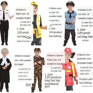 Cadılar Bayramı yangın üniforma Çocuk Bayramı polis avukat küçük giyim işçisi performansı Cadılar Bayramı yangın üniforma Çocuk Bayramı kostüm polis l