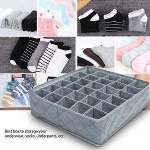 Çok boyutlu Sütyen İç Giyim Organizatör Katlanabilir Ev Saklama Kutusu Dolap Çekmece Dolap Organizatör için eşarplar Çorap Dokumasız
