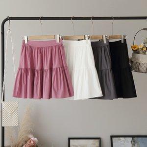 1QatD [Omalai] qualità e buon dressstyle delle donne molli di colore solido elastico [omalai] qualità morbida gonna più giovane 4432 Gonna a vita alta 4432