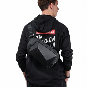 2020 Creative 3D Men Shoulder Bag Anti Theft Sling Bag Waterproof Messenger Bags USB Charging Crossbody Short Trip Chest SR1P#
