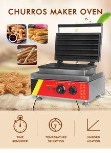 1500W électrique Churros Maker commercial Churros Faire revêtement en acier inoxydable antiadhésifs Waffle Fruit Machine latine