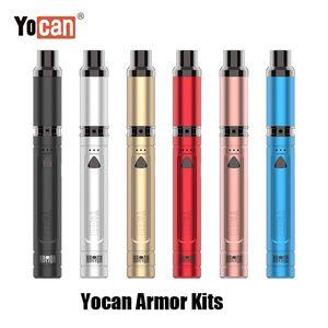 Auténtica Yocan Armor Pen Cera último portátil vaporizador vaporizador pluma de 380mAh batería Concentrado precalentar QDC bobina Manual de los 100% original