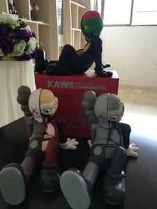 CALDO 16inch 0,9 kg Originalfake KAWS Dissected bambola Companion posizione seduta Figura con la scatola originale KAWS Action Figure decorazioni modello
