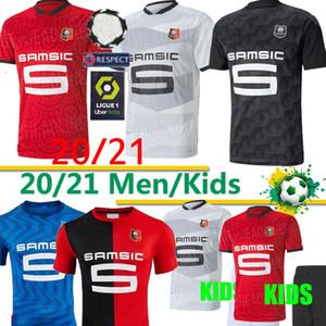 jérsei de futebol 2020 2021Raphinha Niang Terrier J.MARTIN Stade Rennais FC Bourigeaud camisas homens crianças kit de futebol casa longe Tailândia Rennes