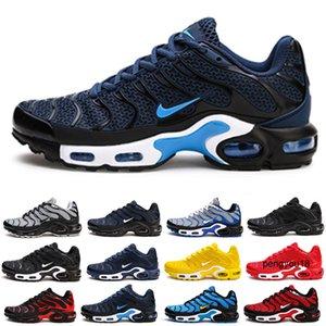 Nike Air max Vapormax TN plus KPU TN plus 2019 Nouveau Designer Chaussures Hommes KPU Mesh respirant Chaussures Homme Chaussures Tn sport 8909-GP RE Noir Chaussures de course nous