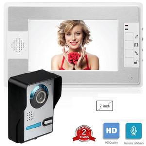 7 pouces filaire sonnette interphone vidéo Système de sécurité avec 1 caméra de porte Moniteur Infared ir maison appartement Vidéoparlophonie