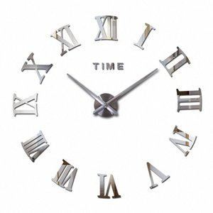Vente en gros 2016 Hot Fashion Quartz Home Decor Ltd vente 3d Big Mirror Diy réel Horloge murale design moderne Chambre très grand cadeau W pTl5 #