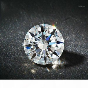 D Color Super White Round American Imported Moissanite Bare Diamond Carat Diamond 18K Gold PT950 Ring Necklace Inlay1