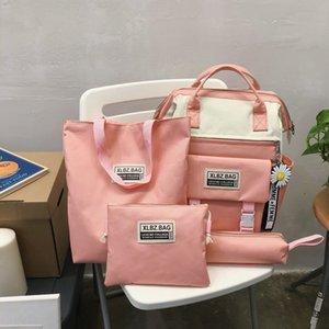 2020 ciambella fodera Schoolbag delle donne sacchetto 2020 ciambella quattro pezzi laptop fodera Laptop Backpack Quattro pezzi zaino delle donne della scuola