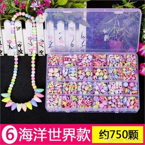 24 Grid DIY Handmade Beads Toys For Toddlers Making Accessory Set Girl Weaving Bracelet Jewelry Making Kids Toys Creative Gifts