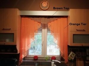 5 Superficie 11 colori Pieghe romana cortina di disegno di cucitura Colori Tulle balcone Cucina tenda di finestra cieca 1pc casa Curtain