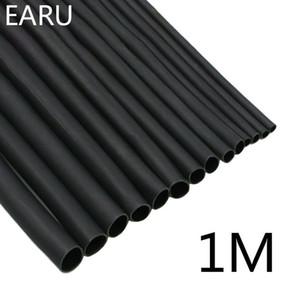 Ev Geliştirme 1 Metre / lot 2: 1 Siyah 1 2 3 5 6 8 10mm Çap Heat Shrink Heatshrink Boru Tüp Sleeving Wrap Tel
