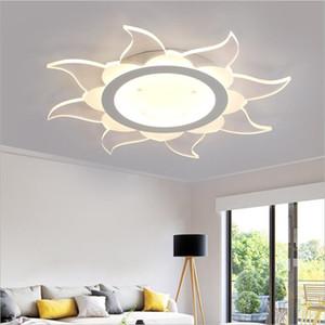 Súper delgada superficie de luz de techo LEDDimmable acrílico montado techo llevado la luz de la lámpara de iluminación Inicio Sala Dormitorio lámparas de techo llevada
