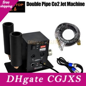 6 미터 호스 DMX 2 채널 이산화탄소 기계 제트 LED 무대 효과 기계 90V -240v DMX 이산화탄소 DJ가 총을 가진 극상의 무대 조명 이산화탄소 기계 더블 노즐