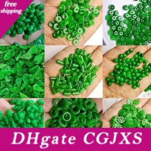 [Hxc] 10pc Natürliche A-Grün-Jade-Korn Diy Armband-Armband-Charme-Jadeit Schmuck Mode-Accessoires Amulet Geschenke für Frauen Männer