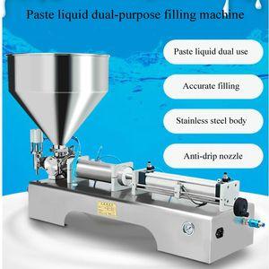 Profissional Pneumatic Machine de Enchimento Sésamo Pasta Iogurte Dentífrico Dentável Cabeça Cabeça Cabeça De Enchimento Máquina de Enchimento de Slurry