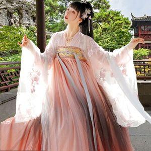 vestido estilo saia chinês verão Qingying de fadas de zqDz0 Coxrt Mulheres elegante saia longa antiga Costume antigo super-traje feericamente