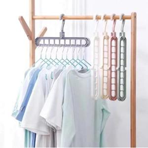 متعدد الميناء الرف دعم دائرة شماعات الملابس الملابس تجفيف رفوف متعددة الوظائف البلاستيك وشاح شماعات شماعات التخزين