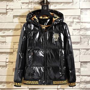 2020 Männer Wintermantel Jacke glänzend kanadische Daunenjacke Männer und Frauen Paare dick glänzend mit Kapuze Wärme super starker Kälteschutz