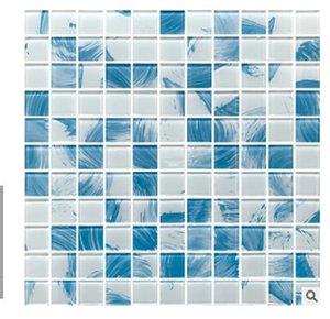 2020 novos estilos de 2020 novo shell Europeia Mediterrâneo cristal mosaico de vidro de fundo telha da parede quebra-cabeça sala cozinha TFM023