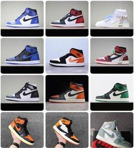 2020 топ ретро NakeskinИорданияAJ1Ajaj41 качество воздуха кроссовки мужчины женщины летать баскетбольные кроссовки chaussure f2bC #